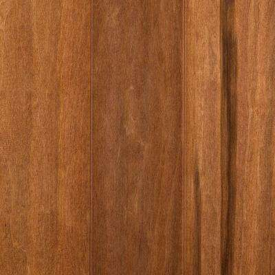 Take Home Sample - Leland Burnished Caramel Engineered Hardwood Flooring - 5 in. x 7 in.