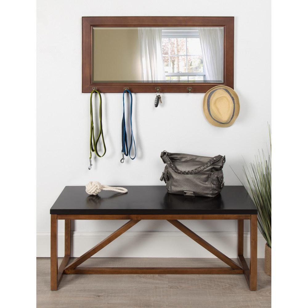 Pub Rectangle Walnut Brown Mirror