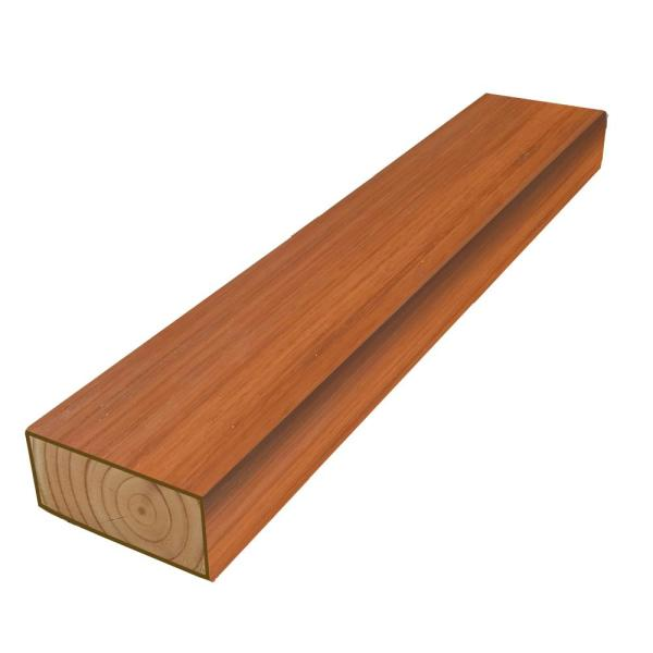 2 in. x 4 in. x 8 ft. #2 DF Polymer Coated Western Red Cedar Tone Treated Lumber