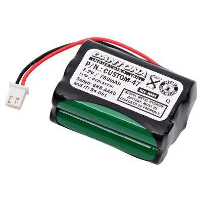 Dantona 7.2-Volt 750 mAh Ni-Mh Battery for ITI - 34-051 Emergency Lighting