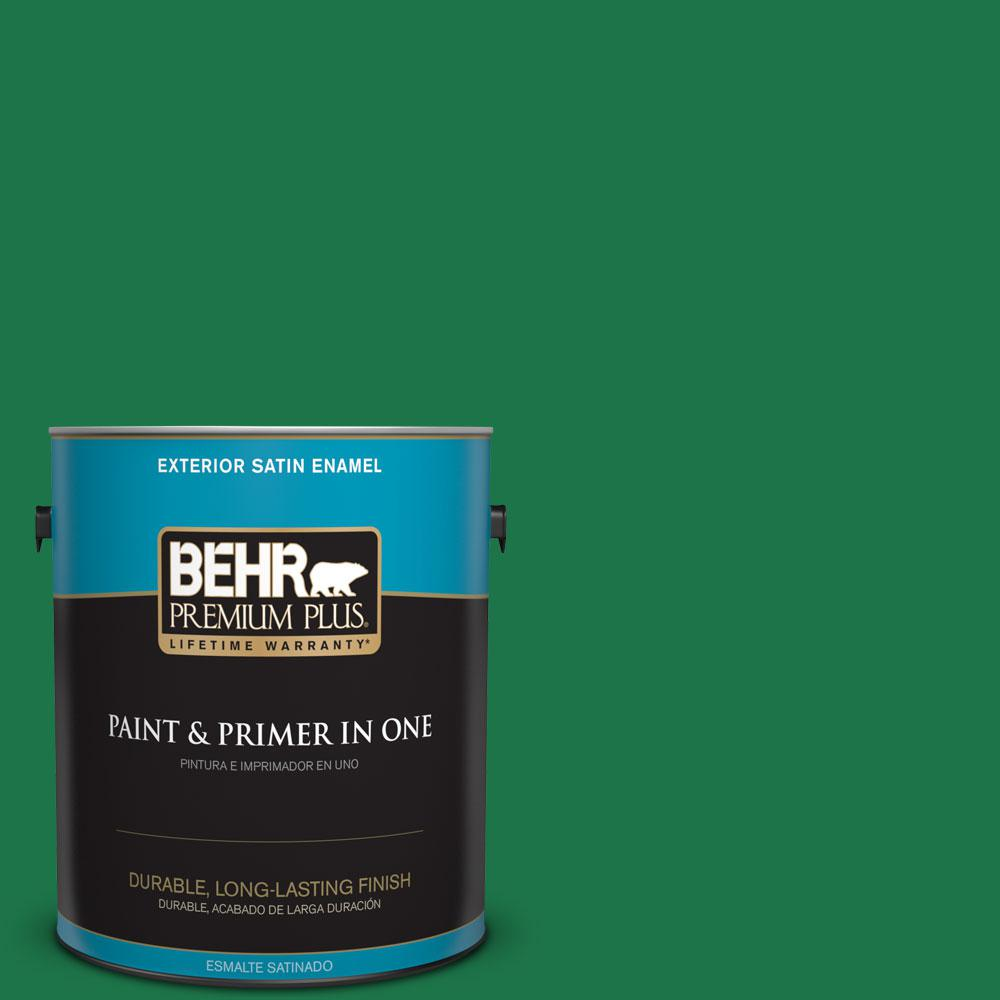 1-gal. #460B-7 Pine Grove Satin Enamel Exterior Paint