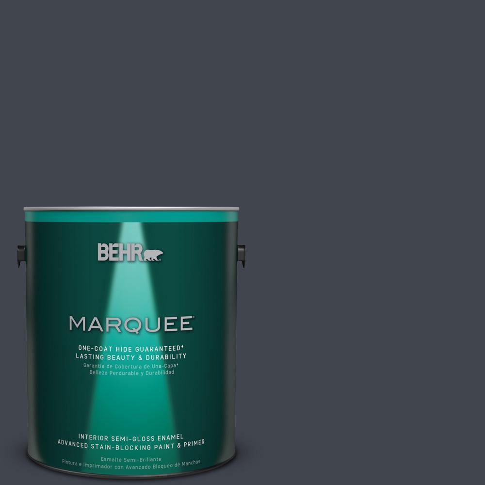 1 gal. #PPU25-23 Winter Way Semi-Gloss Enamel Interior Paint