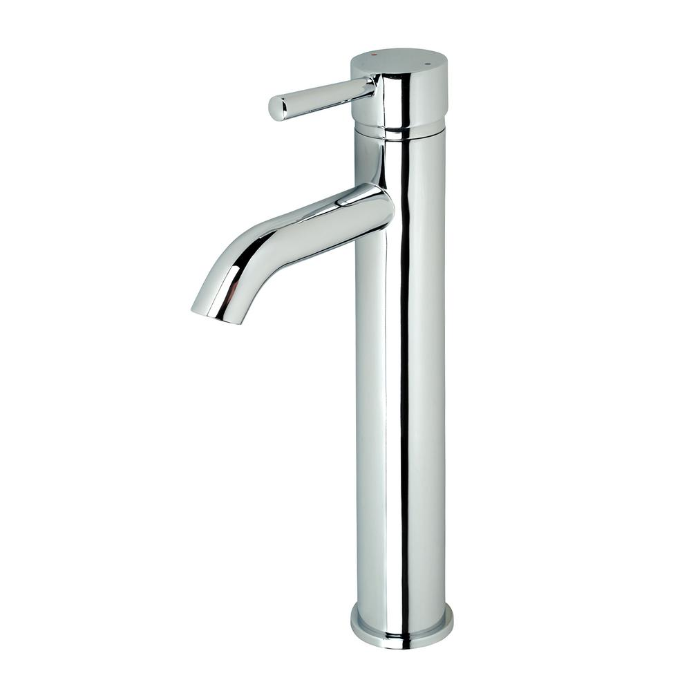 Luxier Single Hole Single-Handle Vessel Bathroom Faucet in Chrome with Pop-Up