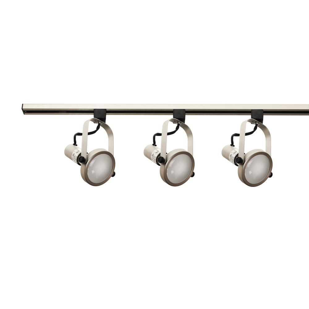 4 ft. 3-Light Pewter Track Lighting Kit