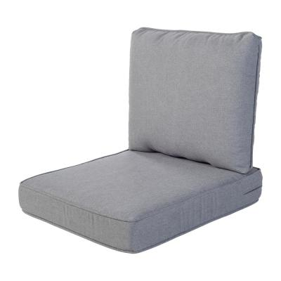 Spring Haven 23.5 in. x 26.5 in. 2-Piece Outdoor Lounge Chair Cushion in True Gray