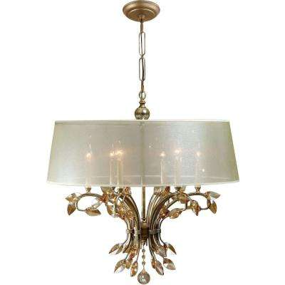 6-Light Gold Chandelier