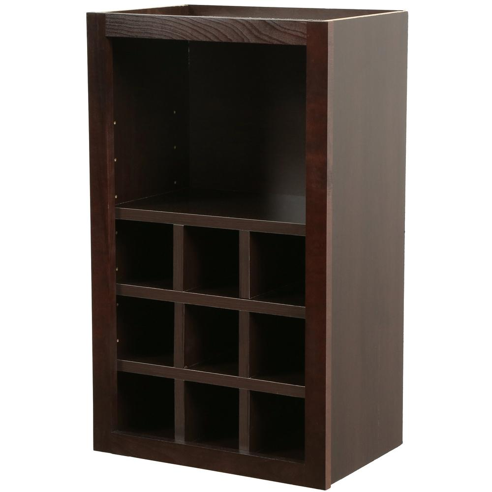 Hampton Bay Shaker Assembled 18x30x12 in. Wall Flex Kitchen Cabinet with  Shelves and Dividers in Java