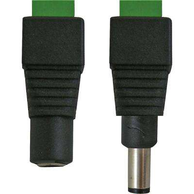 Male and Female Power Connector (DC) for CCTV Cable