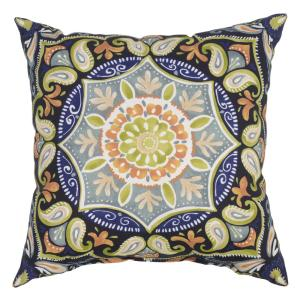 Sky Medallion Square Outdoor Throw Pillow