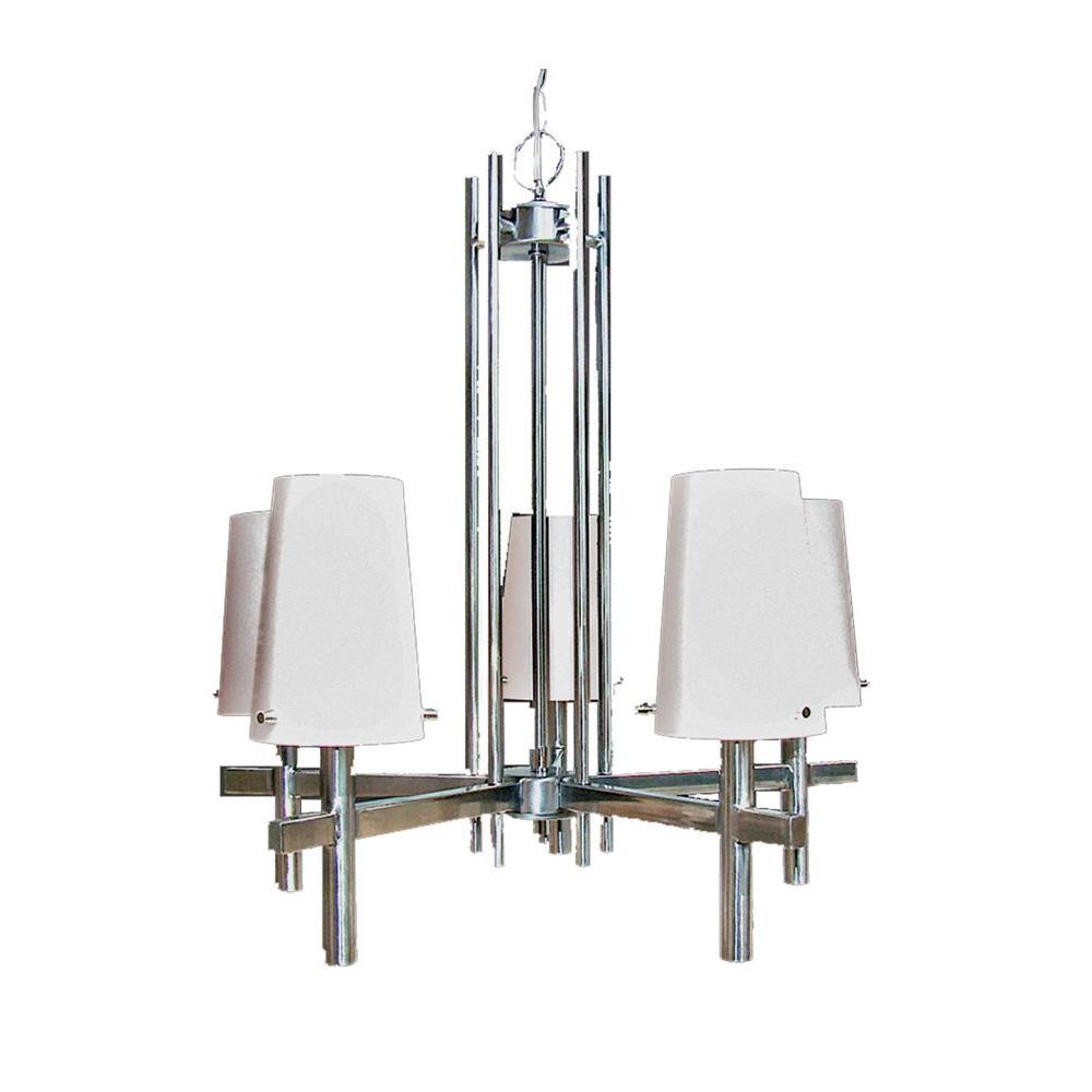 Marquis Lighting 5-Light Satin Chrome Chandelier