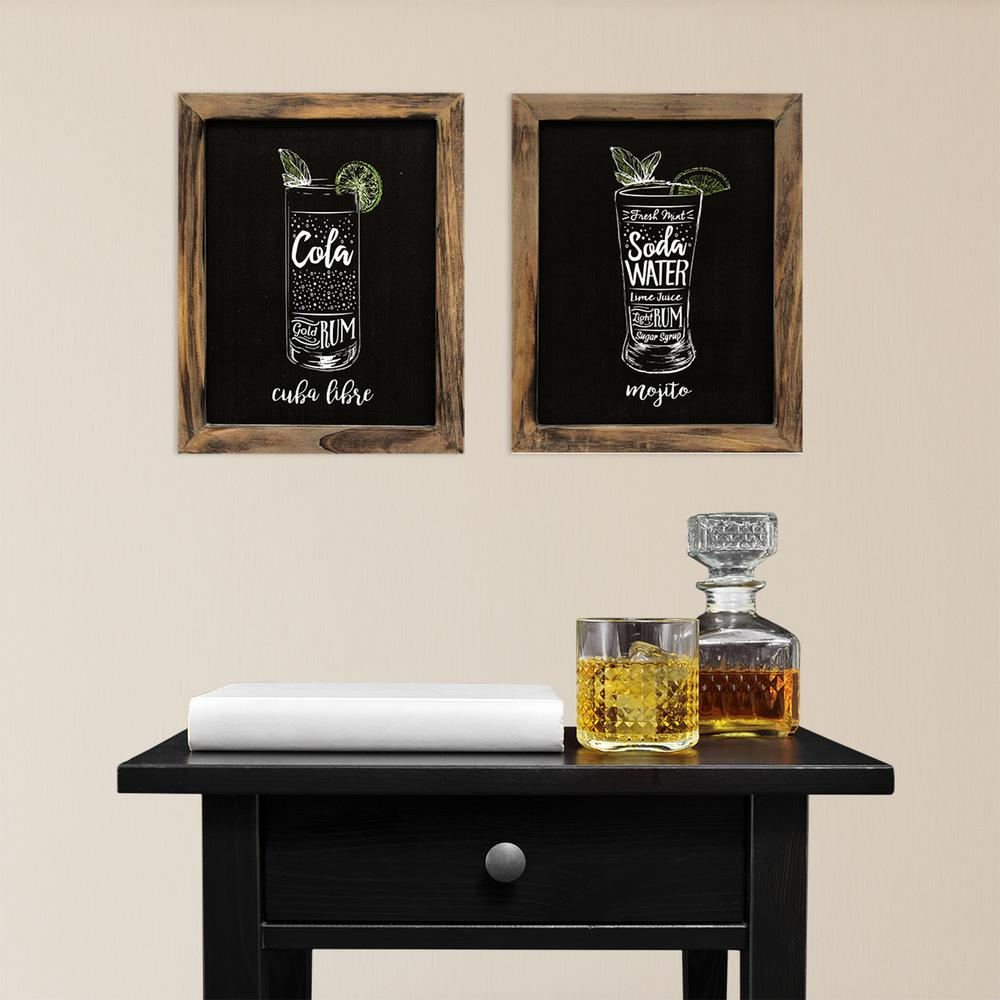 Stratton Home Decor Indoor Cocktails Decorative Sign Set