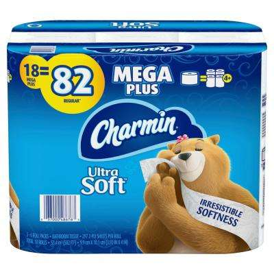Ultra-Soft Toilet Paper (18-Mega Plus Rolls)