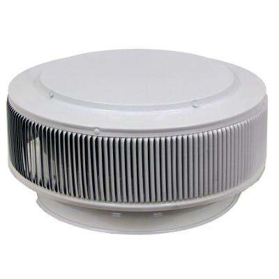 Aura PVC Vent Cap 12 in. Dia Exhaust Vent with Adapter to Fit Over 12 in. PVC Pipe in White Powder Coat