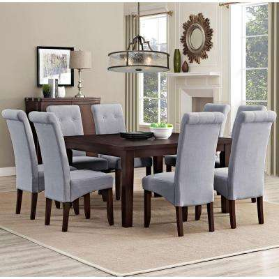 Merveilleux Cosmopolitan 9 Piece Dove Grey Dining Set