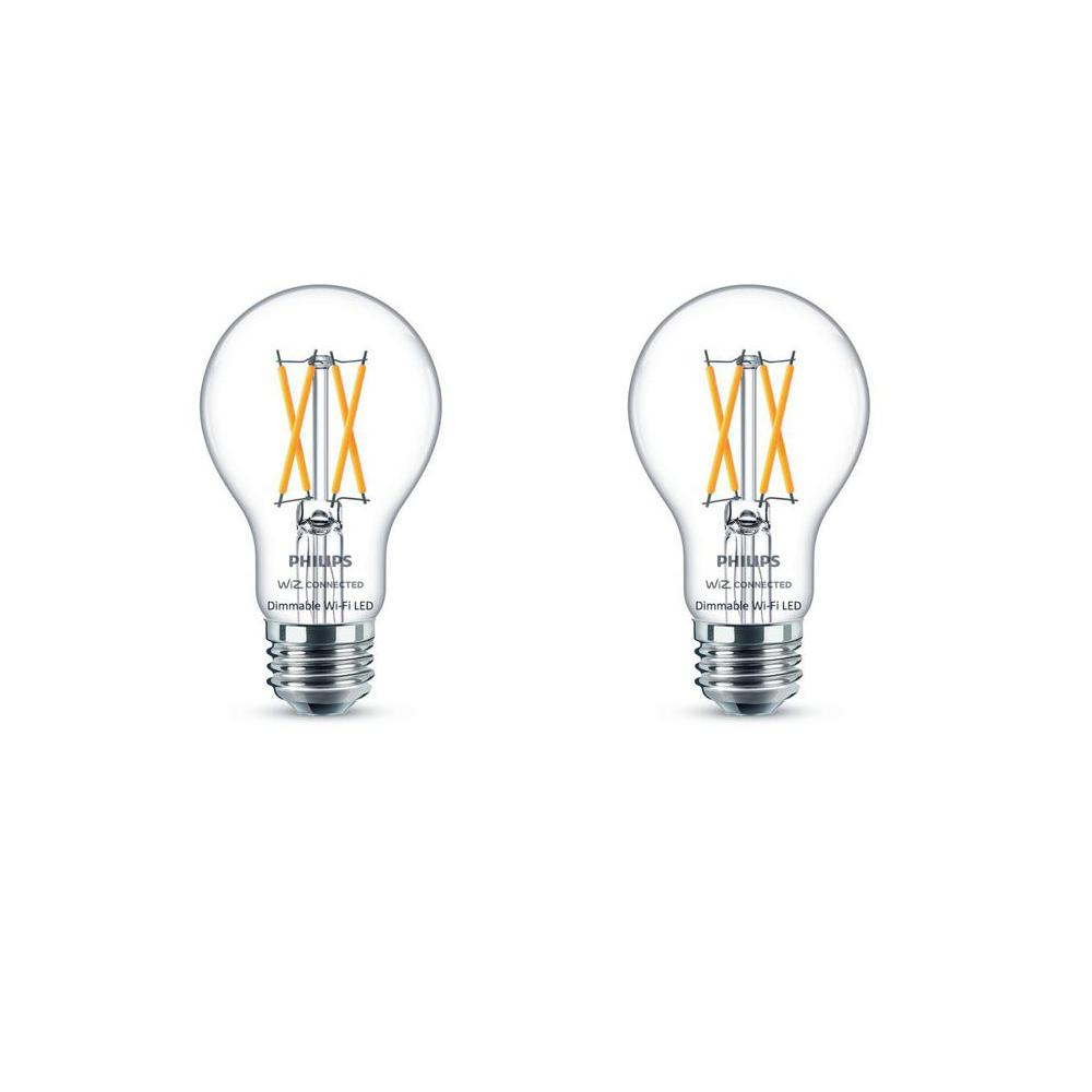 Philips Soft White A19 LED 40-Watt Equivalent Dimmable Smart Wi-Fi Wiz Connected Wireless Light Bulb (2-Pack)