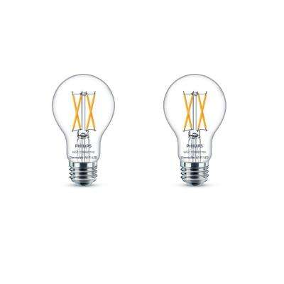 Soft White A19 LED 40-Watt Equivalent Dimmable Smart Wi-Fi Wiz Connected Wireless Light Bulb (2-Pack)
