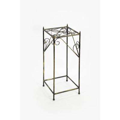 Cast Iron Large Lattice Square  Plant Stand