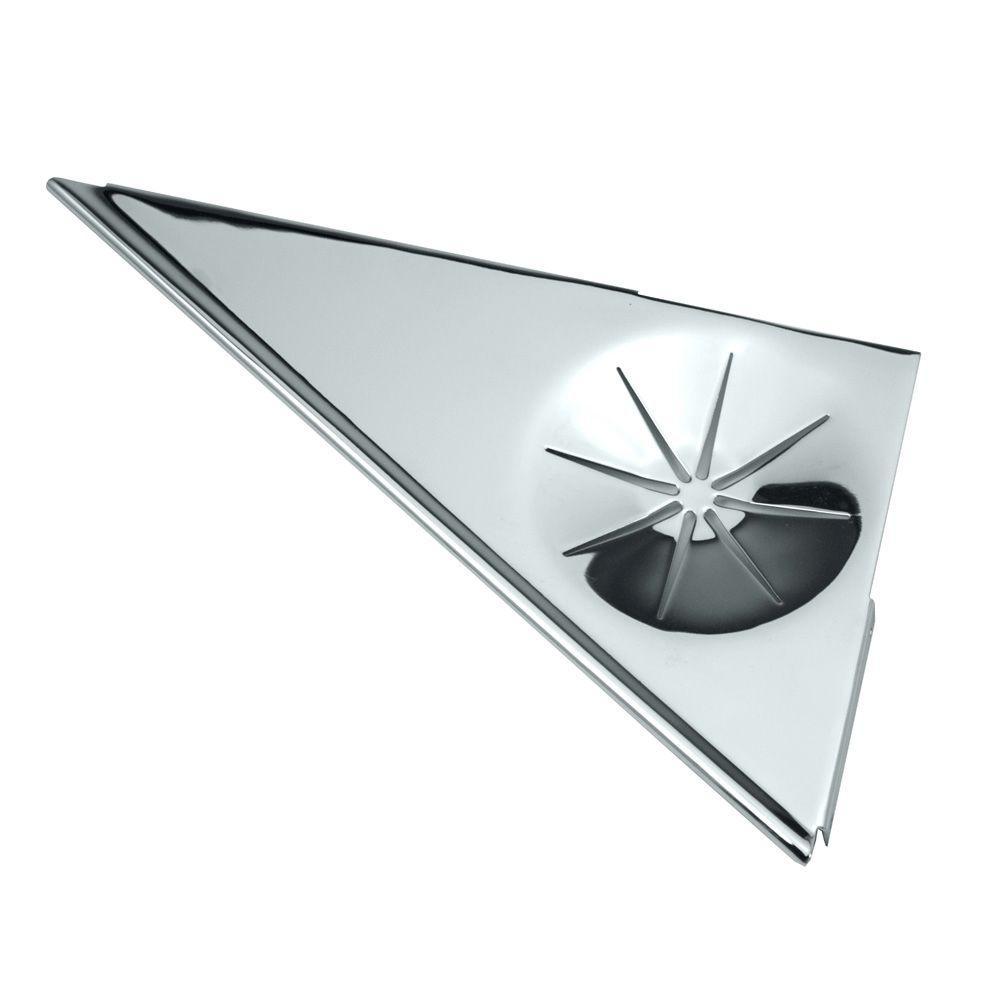 Gatco 11.25 inch W Corner Shower Shelf in Chrome by Gatco
