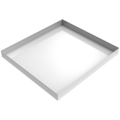 27 in. x 25 in. x 2.5 in. Compact Washer Floor Tray in White