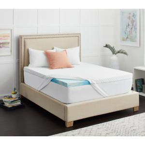 3 in. Sealy Chill Gel Memory Foam Mattress Topper with Cover