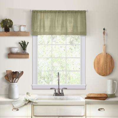 Elrene Cameron Single Window Kitchen Valance in Sage - 60 in. W x 15 in. L