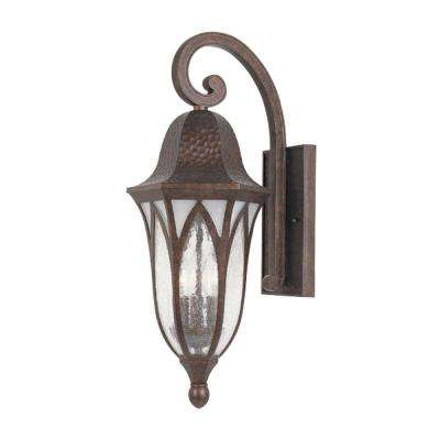 Charleston 3-Light Burnished Antique Copper Outdoor Wall-Mount Lantern