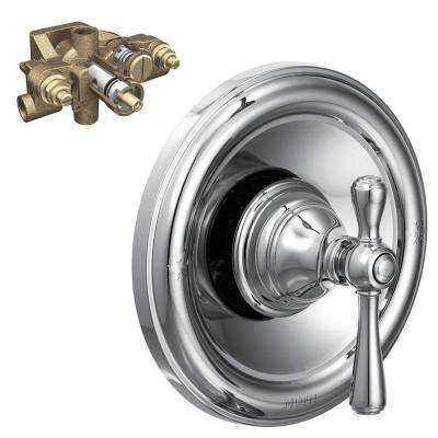 Kingsley 1-Handle Moentrol Valve Trim Kit with Valve in Chrome