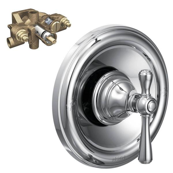 Kingsley Single-Handle Moentrol Valve Trim Kit with Valve in Chrome