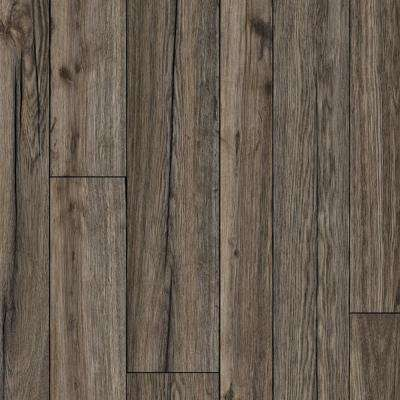 Multi-Width Rustic Hickory 13.2 ft. Wide x Your Choice Length Residential Vinyl Sheet Flooring
