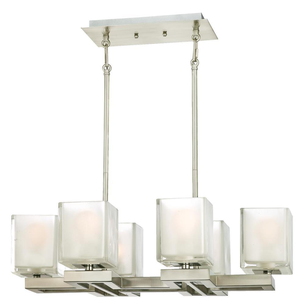 Westinghouse nyle 6 light brushed nickel chandelier with - Westinghouse and living ...