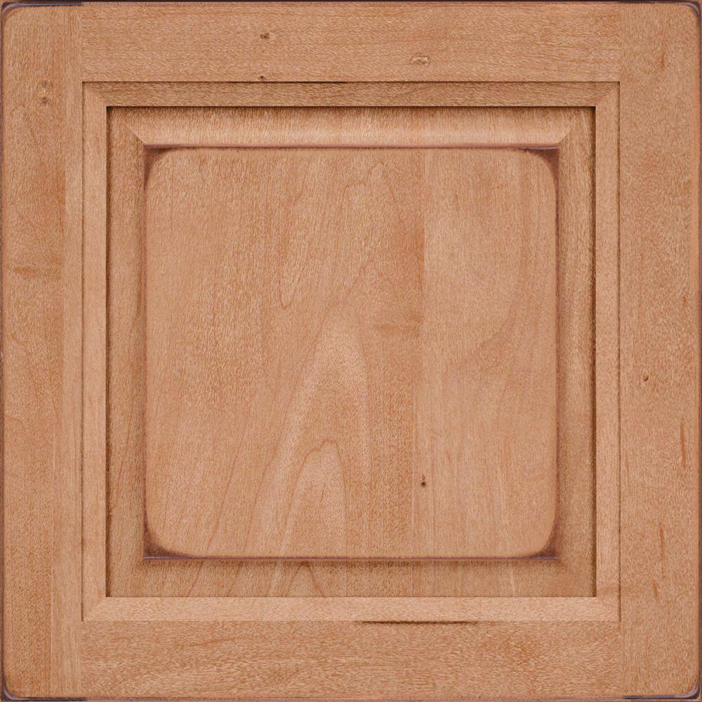 Cabinet Door Sample In Victoria Maple Square In Burnished Ginger
