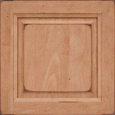 15x15 in. Cabinet Door Sample in Victoria Maple Square in Burnished Ginger