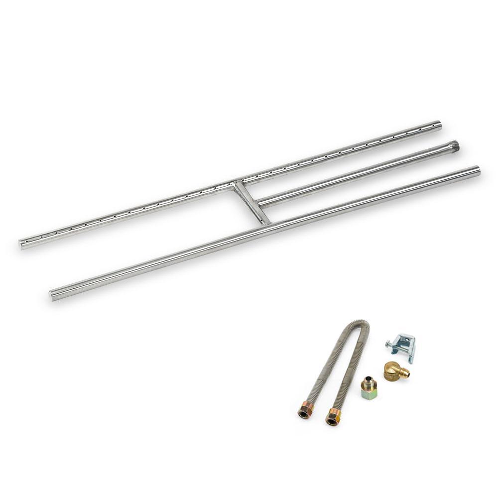 30 in. x 6 in. Stainless Steel H-Burner