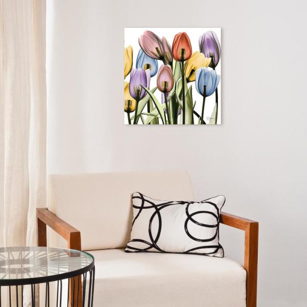 ''Tulip Scape X-Ray II'' Frameless Free Floating Tempered Glass Panel Graphic Wall Art