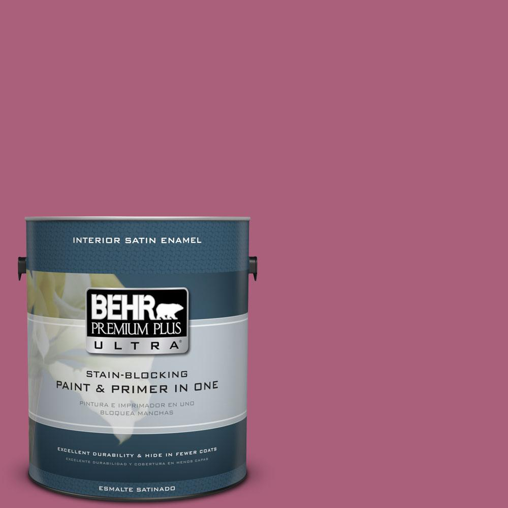 BEHR Premium Plus Ultra 1-gal. #T13-1 Daah-Ling Satin Enamel Interior Paint