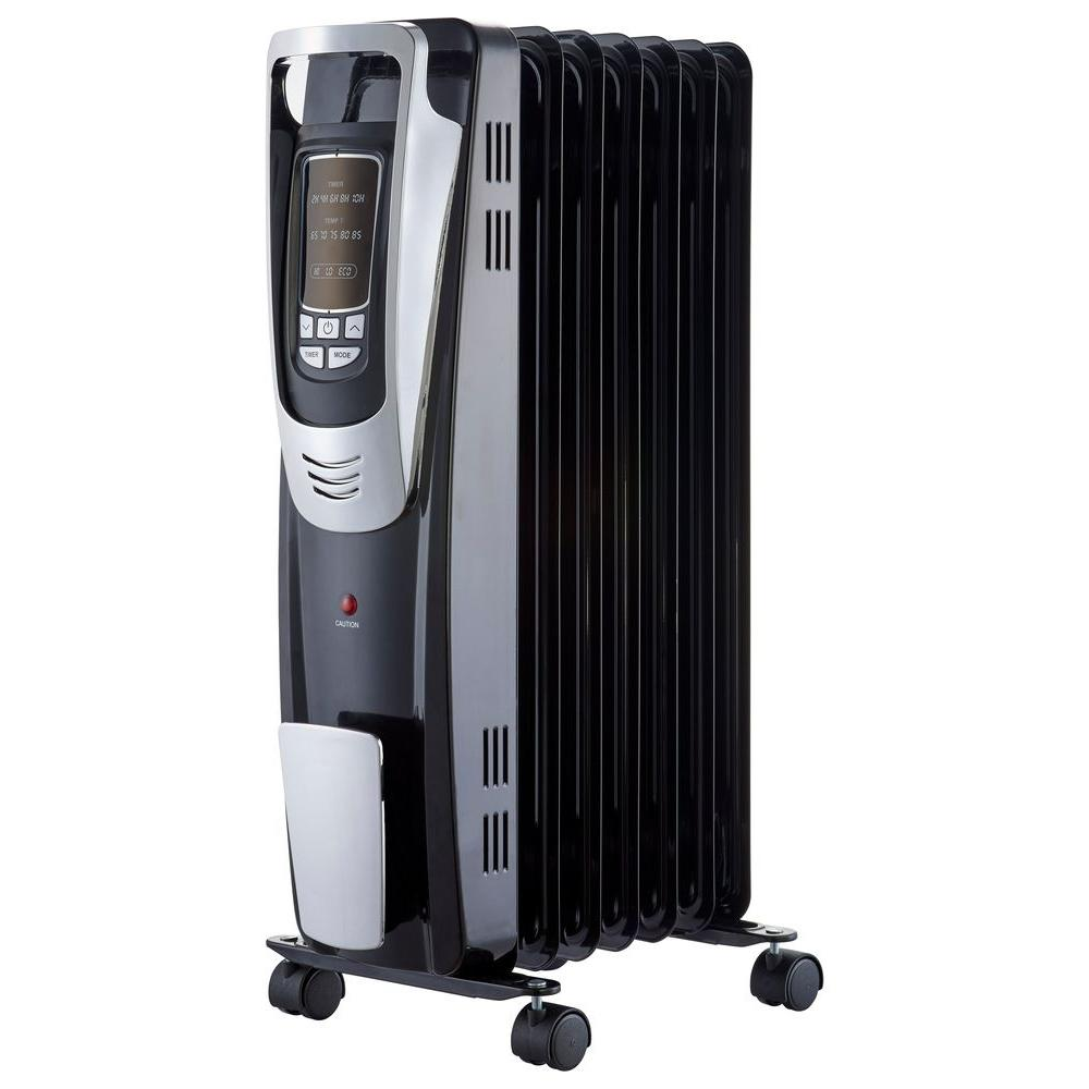 Pelonis 1500 Watt Digital Oil Filled Radiant Portable Heater with Remote  Control. Pelonis 1500 Watt Digital Oil Filled Radiant Portable Heater with