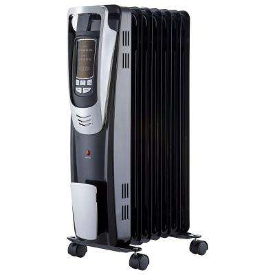 Delicieux 1500 Watt Digital Oil Filled Radiant Portable Heater With Remote Control