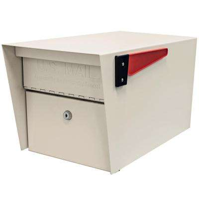 Mail Manager Locking Post-Mount Mailbox with High Security Patented Lock, White