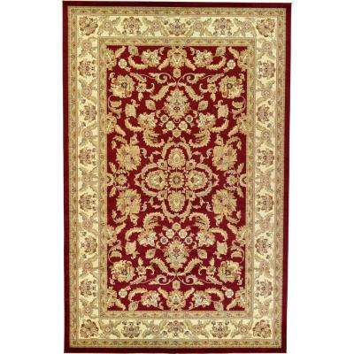 Agra Red and Cream 10 ft. 6 in. x 16 ft. 5 in. Area Rug