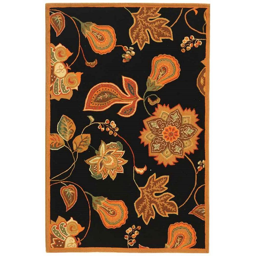 Safavieh Chelsea Black Orange 4 Ft X 6 Area Rug