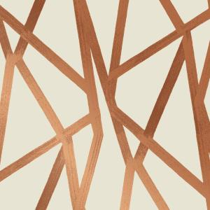 Tempaper Intersections Urban Bronze Self-Adhesive Removable Wallpaper by Genevieve Gorder by Tempaper