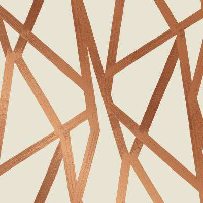 Intersections Urban Bronze Self-Adhesive Removable Wallpaper by Genevieve Gorder