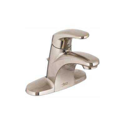 Colony Pro 4 in. Centerset Single-Handle Low-Arc Bathroom Faucet with Pop-Up Drain in Brushed Nickel