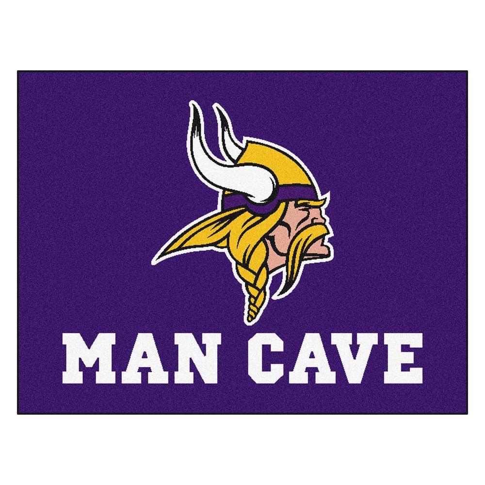Minnesota Vikings Purple Man Cave 3 ft. x 4 ft. Area Rug