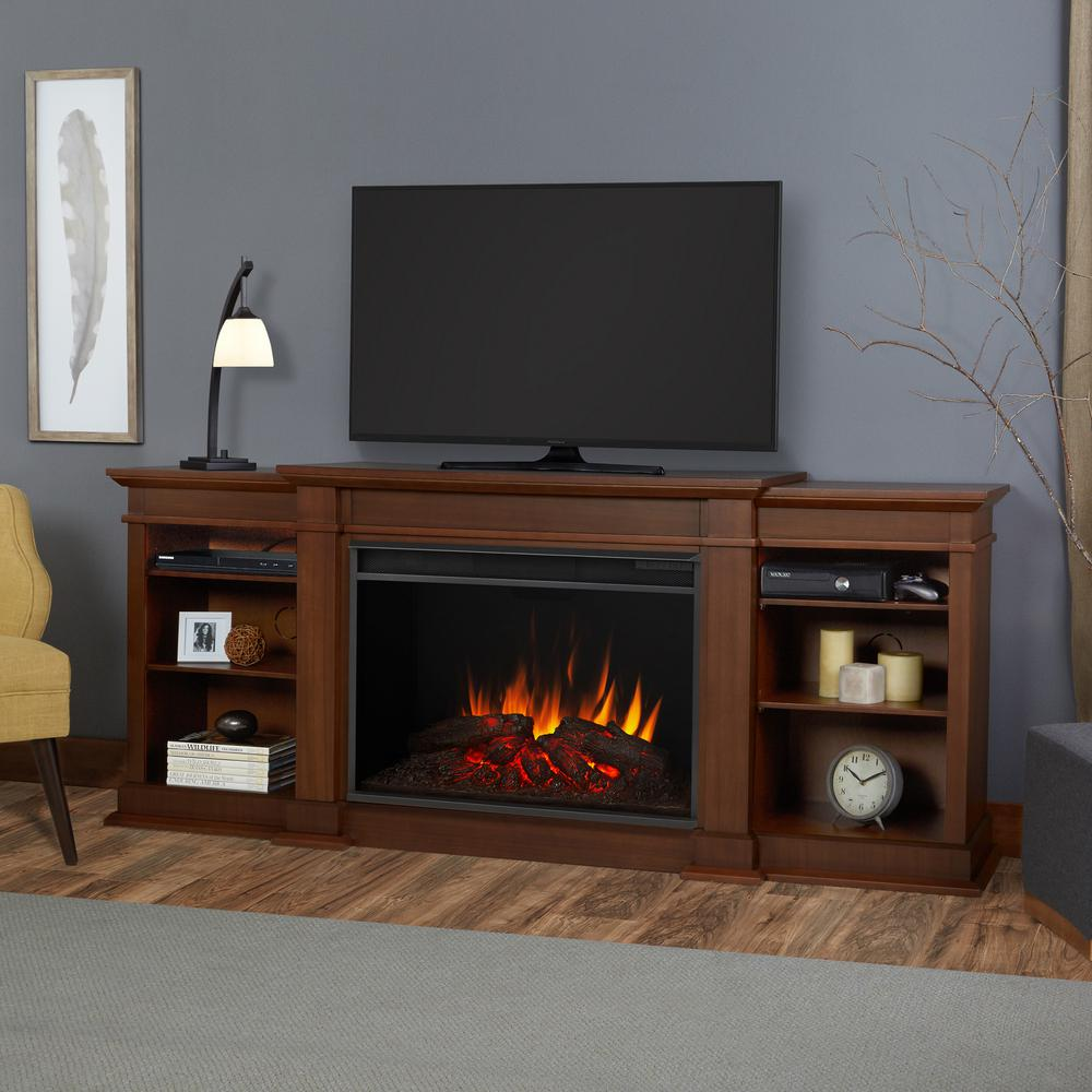 This Review Is From:Eliott Grand 81 In. Entertainment Center Electric  Fireplace In Vintage Black Maple