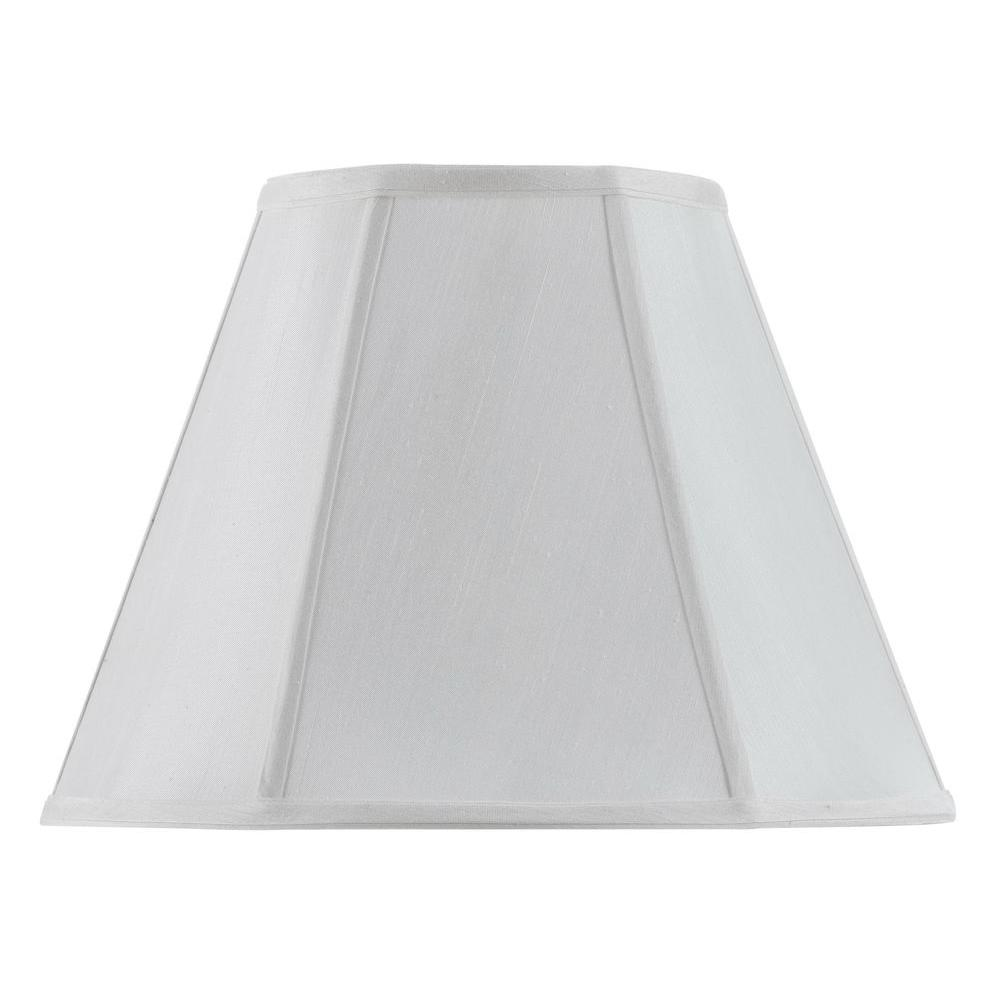 Lovely White Vertical Piped Basic Empire Lamp Shade