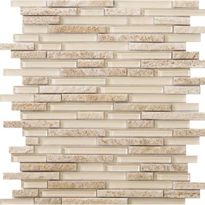 Lucente Servolo Gloss/Matte Mix 12.05 in. x 12.05 in. x 8mm Glass Mesh-Mounted Mosaic Tile (1.07 sq. ft.)