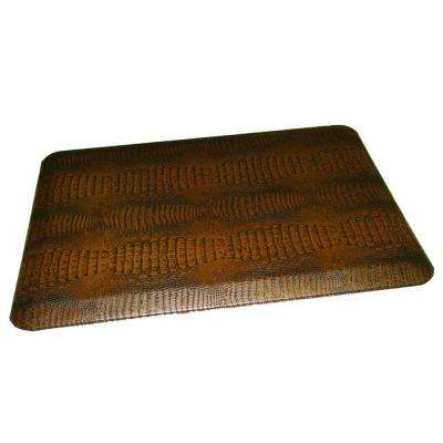 Comfort Craft Crocodile Topaz 24 in. x 48 in. Poly-Urethane Anti-Fatigue Kitchen Mat