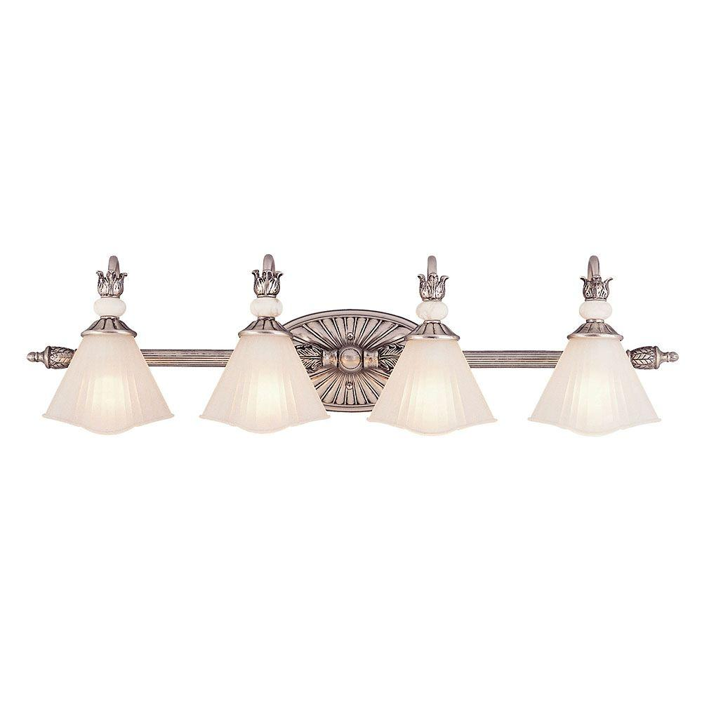 Illumine 4-Light Sterling Silver Wall Sconce