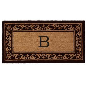 Home & More Kendall Monogram Door Mat 24 inch x 48 inch (Letter B) by Home & More